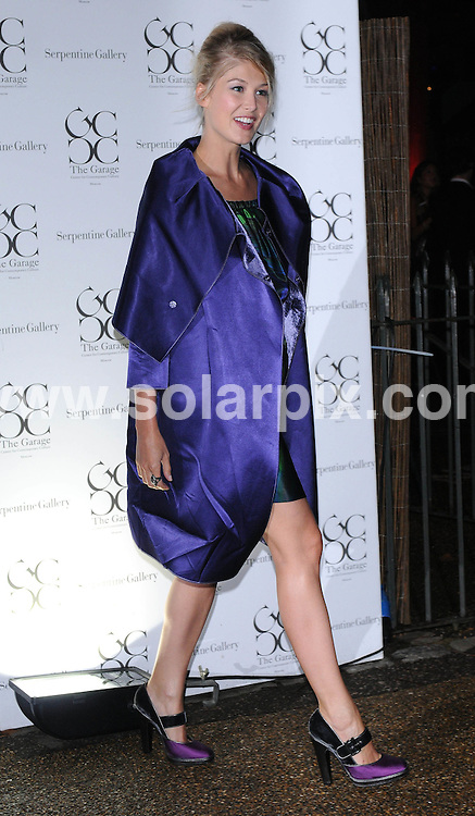 **ALL ROUND PICTURES FROM SOLARPIX.COM**.**WORLDWIDE SYNDICATION RIGHTS**.The Outside arrivals at the Serpentine Gallery Summer Party at the Serpentine Gallery in London in the UK..This pic:Rosamund Pike..JOB REF:7274-SSD     DATE:09_09_08.**MUST CREDIT SOLARPIX.COM OR DOUBLE FEE WILL BE CHARGED* *UNDER NO CIRCUMSTANCES IS THIS IMAGE TO BE REPRODUCED FOR ANY ONLINE EDITION WITHOUT PRIOR PERMISSION*