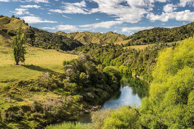 The upper reaches of the Wanganui River near Taumarunui. New Zealand. Available as canvas prints &  fine art print