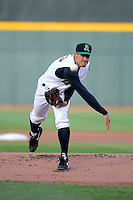 Dayton Dragons pitcher Robert Stephenson #17 during a game against the Bowling Green Hot Rods on April 20, 2013 at Fifth Third Field in Dayton, Ohio.  Dayton defeated Bowling Green 6-3.  (Mike Janes/Four Seam Images)