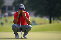 Rafael Cabrera Bello (ESP) looks over his putt on 1 during round 3 of the WGC FedEx St. Jude Invitational, TPC Southwind, Memphis, Tennessee, USA. 7/27/2019.<br /> Picture Ken Murray / Golffile.ie<br /> <br /> All photo usage must carry mandatory copyright credit (© Golffile | Ken Murray)