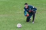 16.03.2019, Trainingsgelaende am Weserstadion, Bremen, GER, 1.FBL, Training SV Werder Bremen<br /> <br /> im Bild<br /> Jiri Pavlenka (Werder Bremen #01) mit Gesichtsmaske, <br /> <br /> Foto © nordphoto / Ewert