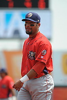 Williamsport Crosscutters infielder Wilmer Oberto (22) during game against the Brooklyn Cyclones at MCU Park on July 21, 2014 in Brooklyn, NY.  Brooklyn defeated Williamsport  5-2.  (Tomasso DeRosa/Four Seam Images)