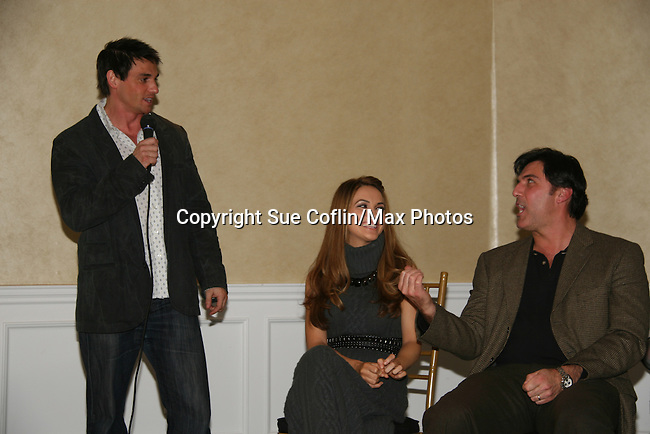 Bill Freda - Chrishell Stause - Vincent Irizarry at a benefit for American Lung Association on December 6, 2009 at Mezza on the Green at the Lawrence Country Club. (Photos by Sue Coflin/Max Photos)