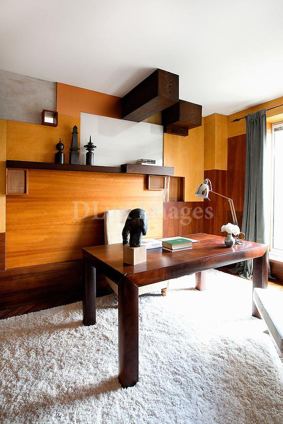 modern wooden home office