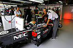 Peter Sauber (SUI), Team Chef Sauber F1 Team - Esteban Gutierrez (MEX) Sauber F1 Team<br /> for the complete Middle East, Austria &amp; Germany Media usage only!<br />  Foto &copy; nph / Mathis