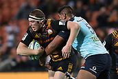 June 3rd 2017, FMG Stadium, Waikato, Hamilton, New Zealand; Super Rugby; Chiefs versus Waratahs;  Chiefs lock Brodie Retallick is tackled by Waratahs lock Will Skelton during the Super Rugby rugby match