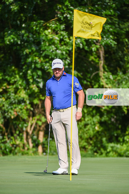 Graeme McDowell (NIR) looks over his putt on 7 during round 3 of the 2019 Charles Schwab Challenge, Colonial Country Club, Ft. Worth, Texas,  USA. 5/25/2019.<br /> Picture: Golffile | Ken Murray<br /> <br /> All photo usage must carry mandatory copyright credit (© Golffile | Ken Murray)