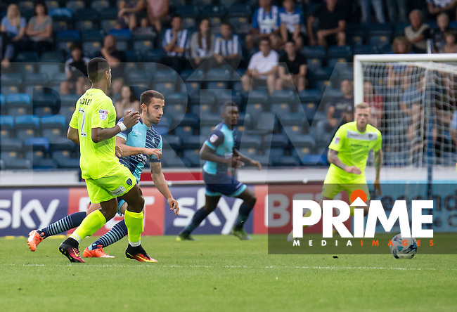 Nick Freeman of Wycombe Wanderers during the Sky Bet League 2 match between Wycombe Wanderers and Colchester United at Adams Park, High Wycombe, England on 27 August 2016. Photo by Liam McAvoy.