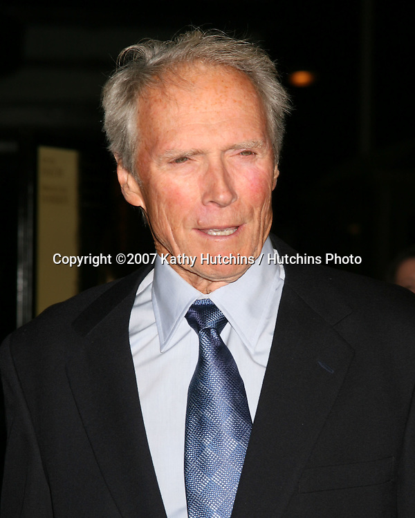 "Clint Eastwood.""Rails & Ties"" Premiere.Stephen J. Ross Theater.Warner Brothers Lot.Burbank,  CA.October 23, 2007.©2007 Kathy Hutchins / Hutchins Photo...               ."