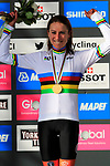 Gold medal and World Champions Jersey for Annemiek Van Vleuten (NED) wins the Women Elite Road Race of the UCI World Championships 2019 running 149.4km from Bradford to Harrogate, England. 28th September 2019.<br /> Picture: Eoin Clarke | Cyclefile<br /> <br /> All photos usage must carry mandatory copyright credit (© Cyclefile | Eoin Clarke)