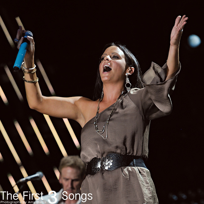 Sara Evans performs at LP Field during the 2011 CMA Music Festival on June 9, 2011 in Nashville, Tennessee.