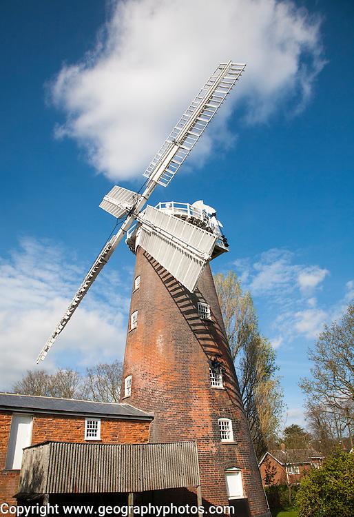 Buttrum's Mill windmill built 1836, Woodbridge, Suffolk, England