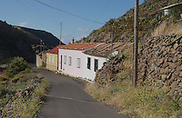 Row of cottages in La Gomera, Canary Islands.