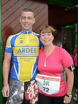 Darren Campbell and Josie Nevin who ran the Ferdia Challange 5K run in Ardee. Photo:Colin Bell/pressphotos.ie