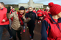 ON THE RUN AT STORMONT: 10/02/18 Hundreds of runners and walkers in red took over Stormont today to take part in Northern Ireland's only Red Dress Run, organised by Northern Ireland Chest Heart and Stroke.  Only in its second year the event has proved hugely popular with 400 people taking part. Photo/Paul McErlane