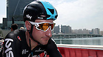 Elia Viviani (ITA) Team Sky at sign on before the start of Stage 2 the Nation Towers Stage of the 2017 Abu Dhabi Tour, running 153km around the city of Abu Dhabi, Abu Dhabi. 24th February 2017<br /> Picture: ANSA/Matteo Bazzi | Newsfile<br /> <br /> <br /> All photos usage must carry mandatory copyright credit (&copy; Newsfile | ANSA)