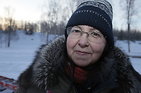 Saturday February 25, 2012   at Knik Lake during the Junior Iditarod start.  Barb Redington.
