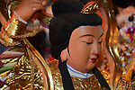 Donggang, Taiwan -- God statue in a sedan.