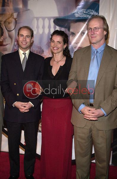 Prince Edward, Julia Ormond and William Hurt