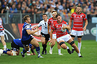 Jake Polledri of Gloucester Rugby finds space during the Gallagher Premiership Rugby match between Bath Rugby and Gloucester Rugby at The Recreation Ground on Saturday 8th September 2018 (Photo by Rob Munro/Stewart Communications)