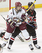 Brian Boyle, Adam Geragosian, Jacques Perreault - The Boston College Eagles defeated Northeastern University Huskies 5-3 on Saturday, November 19, 2005, at Kelley Rink in Conte Forum at Chestnut Hill, MA.
