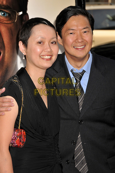 "GUEST & KEN JEONG.""The Hangover"" Los Angeles Premiere held at Grauman's Chinese Theatre, Hollywood, CA, USA..June 2nd, 2009.half length black dress suit jacket.CAP/ADM/BP.©Byron Purvis/AdMedia/Capital Pictures."