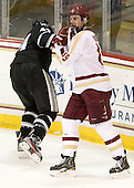 Myles Harvey (PC - 44), Chris Kreider (BC - 19) - The Boston College Eagles defeated the Providence College Friars 7-0 on Saturday, February 25, 2012, at Kelley Rink at Conte Forum in Chestnut Hill, Massachusetts.