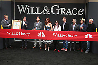 02 August 2017 - Universal City, California - : Eric Garcetti, Eric McCormack, Debra Messing, Megan Mullally, Sean Hayes. 'Will & Grace' Start Of Production Kick Off Event And Ribbon Cutting Ceremony. Photo Credit: F. Sadou/AdMedia
