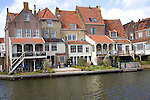 Attractive historic waterside buildings, Enkhuizen, Netherlands