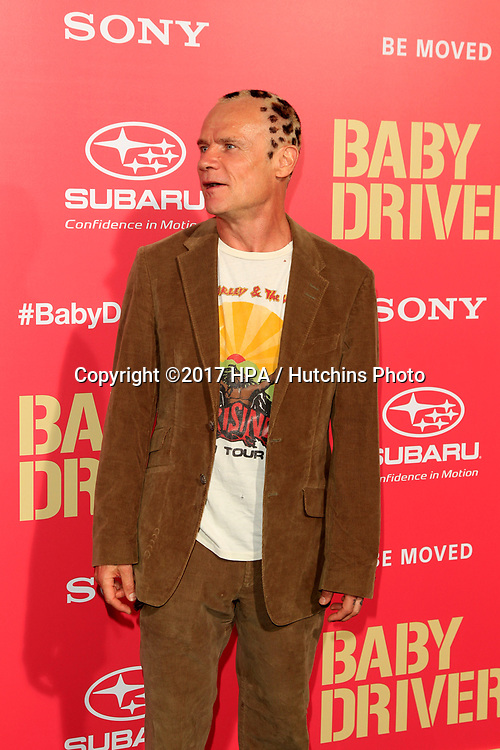 """LOS ANGELES - JUN 14:  Flea aka Michael Peter Balzary at the """"Baby Driver"""" Premiere at the The Theater at Ace Hotel on June 14, 2017 in Los Angeles, CA"""