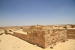 Israel, Negev, ruins of a Roman outpost in Wadi Hazaz