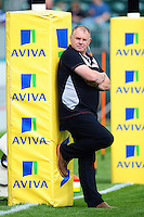 Newcastle Falcons Director of Rugby Dean Richards looks on during the pre-match warm-up. Aviva Premiership match, between Bath Rugby and Newcastle Falcons on September 10, 2016 at the Recreation Ground in Bath, England. Photo by: Patrick Khachfe / Onside Images