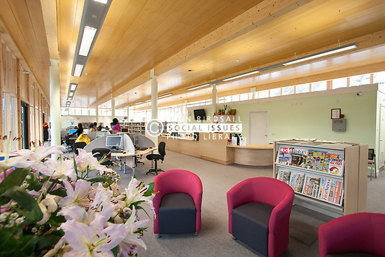 Hornsey School for Girls library, London Borough of Haringey London UK