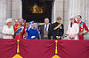 QUEEN, KATE, CAMILLA, PRINCE CHARLES PRINCE ANDREW AND PRINCE WILLIAM<br /> appear on the balcony of Buckingham Palace to watch the Royal Air Force Flypast as part of the Trooping of the Colour, London_15th June 2013<br /> The annual event marks the Queen's Official Birthday.<br /> Photo Credit: &copy;Dias/NEWSPIX INTERNATIONAL<br /> <br /> **ALL FEES PAYABLE TO: &quot;NEWSPIX INTERNATIONAL&quot;**<br /> <br /> PHOTO CREDIT MANDATORY!!: NEWSPIX INTERNATIONAL<br /> <br /> IMMEDIATE CONFIRMATION OF USAGE REQUIRED:<br /> Newspix International, 31 Chinnery Hill, Bishop's Stortford, ENGLAND CM23 3PS<br /> Tel:+441279 324672  ; Fax: +441279656877<br /> Mobile:  0777568 1153<br /> e-mail: info@newspixinternational.co.uk