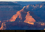 Isis Temple and Kaibab Plateau at Sunset from Yavapai Point, South Rim, Grand Canyon, Arizona