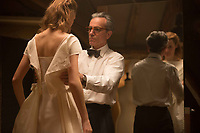 Phantom Thread (2017) <br /> Vicky Krieps &amp; Daniel Day-Lewis<br /> *Filmstill - Editorial Use Only*<br /> CAP/KFS<br /> Image supplied by Capital Pictures