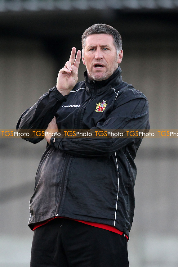 AFC Hornchurch manager Jim McFarlane - AFC Hornchurch vs Maidstone United - Ryman League Premier Division Football at Mill Field, Aveley FC, Aveley, Essex - 02/09/14 - MANDATORY CREDIT: Gavin Ellis/TGSPHOTO - Self billing applies where appropriate - contact@tgsphoto.co.uk - NO UNPAID USE