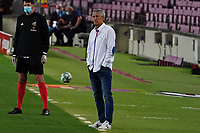 16th July 2020; Camp Nou, Barcelona, Catalonia, Spain; La Liga Football, Barcelona versus Osasuna; Barcelona manager Quique Setien looks frustrated as his team go behind early in the game