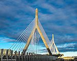The Leonard P. Zakim Bunker Hill Bridge, Boston, Massachusetts, USA