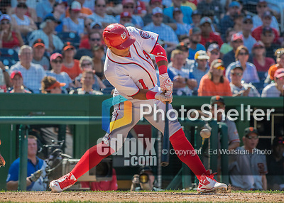 7 August 2016: Washington Nationals infielder Wilmer Difo in action against the San Francisco Giants at Nationals Park in Washington, DC. The Nationals shut out the Giants 1-0 to take the rubber match of their 3-game series. Mandatory Credit: Ed Wolfstein Photo *** RAW (NEF) Image File Available ***