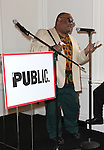 Stew attending the Unveiling of the Revitalized Public Theater at Astor Place in New York City on 10/4/2012.