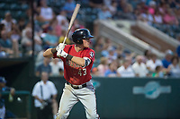 Billings Mustangs right fielder Bren Spillane (43) at bat during a Pioneer League game against the Ogden Raptors at Lindquist Field on August 17, 2018 in Ogden, Utah. The Billings Mustangs defeated the Ogden Raptors by a score of 6-3. (Zachary Lucy/Four Seam Images)