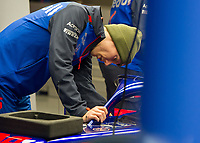 BRENDON HARTLEY (NZL) of Scuderia Toro Rosso during Day 3 of the 2018 Formula 1 Testing at the Circuit de Catalunya, Barcelona. on 28 February 2018. Photo by Vince  Mignott.