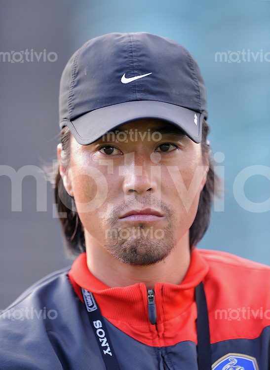 Fussball Frauen FIFA U 17  Weltmeisterschaft 2008     05.11.2008 England - Korea KOR Trainer Yong Ho Kim