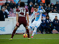 Jose Callejon  during the  italian serie a soccer match,between SSC Napoli and Torino       at  the San  Paolo   stadium in Naples  Italy , December 18, 2016