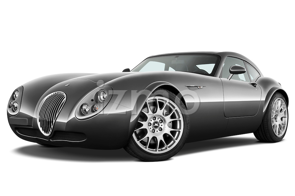 Low aggressive front three quarter view of a 2009 - 2014 Wiesmann MF4 GT 2 Door Coupe.