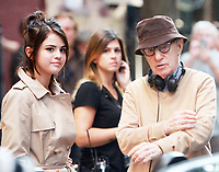 NEW YORK, NY September 11, 2017 Selena Gomez, Woody Allen shooting on location for Untitled Woody Allen Project in New York September 11,  2017.<br /> CAP/MPI/RW<br /> &copy;RW/MPI/Capital Pictures