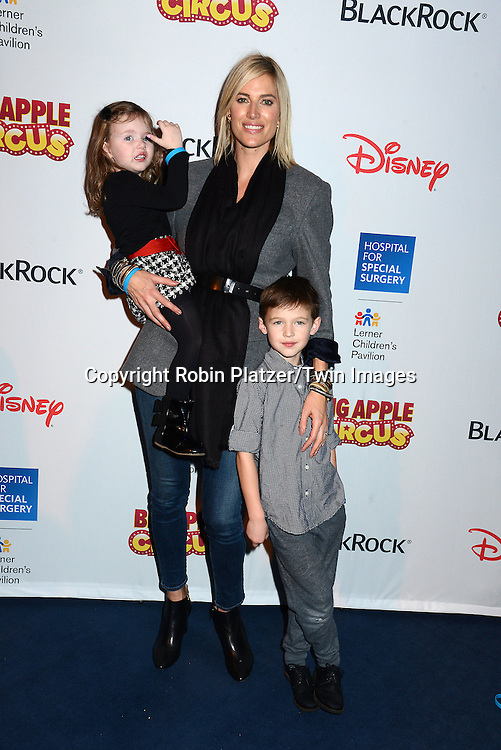 Kristen Taekman  of The Real Housewives of New York and her children Kingsley and Cash attend the Hospital for Special Surgery's 8th Annual  Big Apple Circus Benefit on December 6, 2014 at Damrosch Park in Lincoln Center  in New York City, USA.<br /> <br /> photo by Robin Platzer/Twin Images<br />  <br /> phone number 212-935-0770