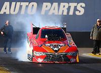 Feb 4, 2016; Chandler, AZ, USA; NHRA funny car driver Chad Head during pre season testing at Wild Horse Pass Motorsports Park. Mandatory Credit: Mark J. Rebilas-USA TODAY Sports