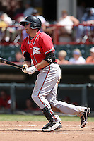 Richmond Flying Squirrels Wes Hodges #18 during a game against the Erie Seawolves at Jerry Uht Park on July 27, 2011 in Erie, Pennsylvania.  Richmond defeated Erie 4-2.  (Mike Janes/Four Seam Images)